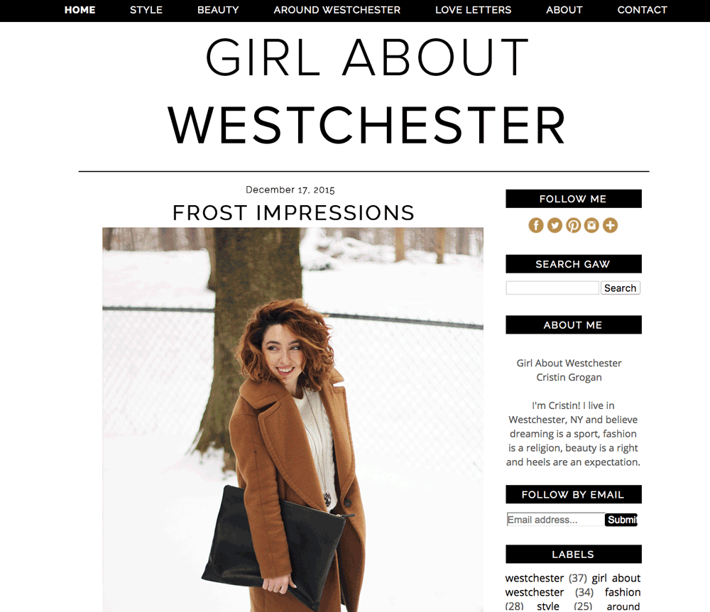 Girl About Westchester | Cristin Grogan | Social Media