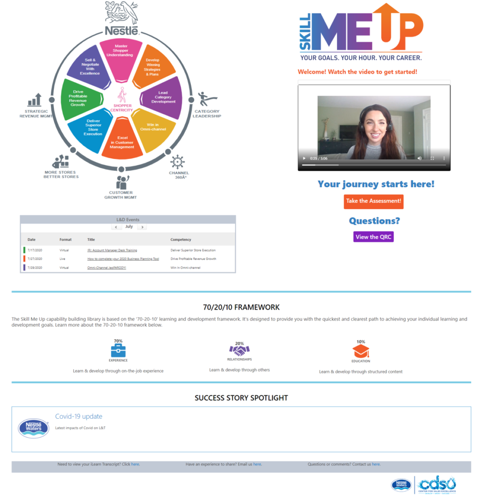SKILL ME UP: Using ADDIE + Creating a 70-20-10 Capability-Building Experience for Adult Learners